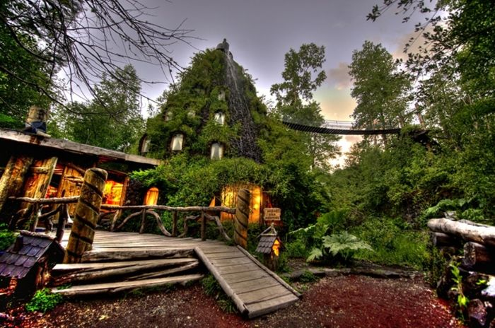 Magic Mountain Lodge: гостиница-вулкан (Чили) (5 фото)